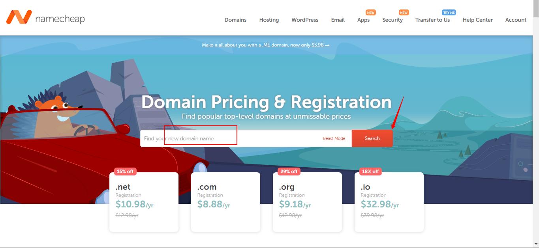 Namecheap Domains Registration