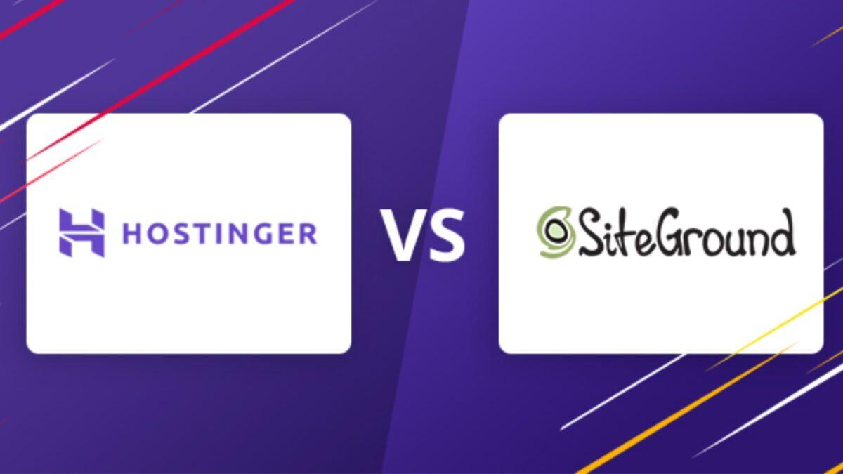 Hostinger vs Siteground
